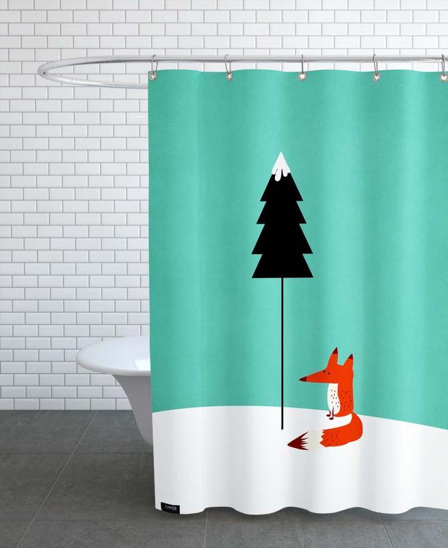 Füchse, Kinderzimmer & Kunst für Kinder, Mister Fox -Duschvorhang