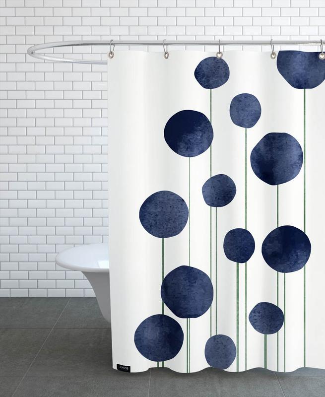 Waterflowers Shower Curtain