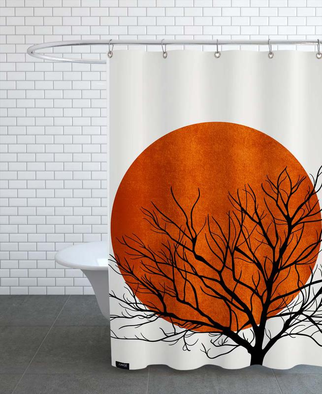 Trees, Sunsets, Winter Sunset Shower Curtain