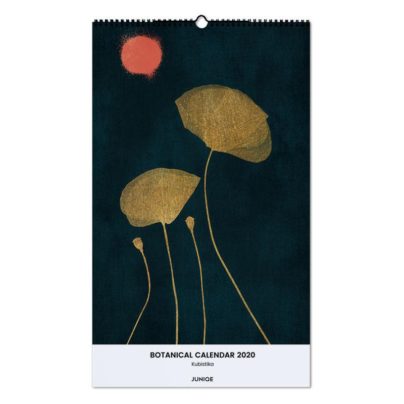 Botanical Calendar 2020 - Kubistika -Wandkalender