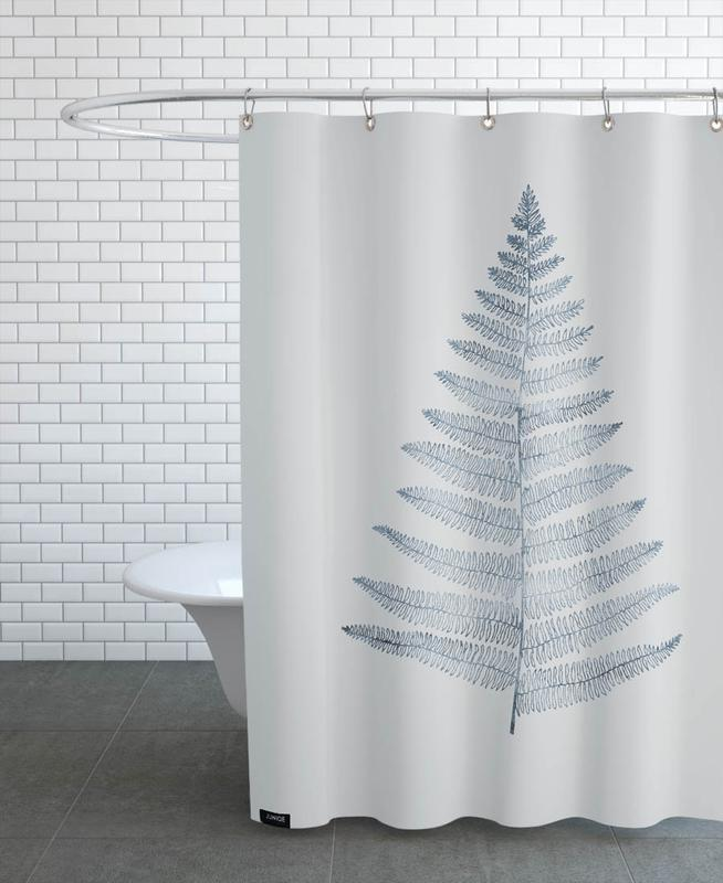 Leaves & Plants, Botanica Minimalistica No.1 Shower Curtain