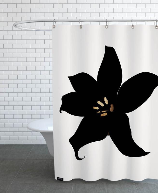 Black & White, Dark Orchid Shower Curtain