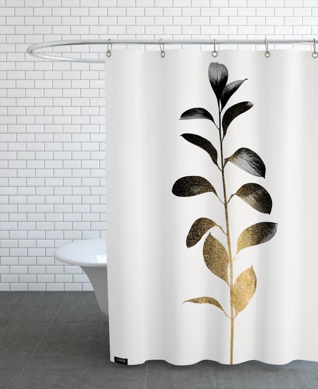 Leaves & Plants, Monochromatica No. 9 Shower Curtain