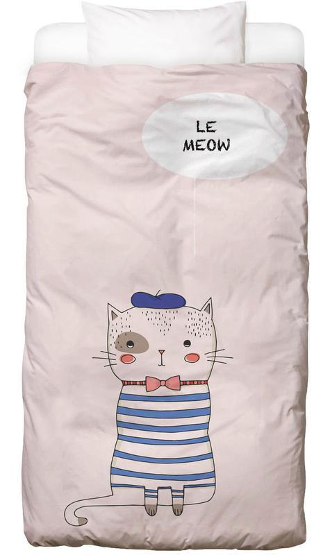 Chats, Art pour enfants, Le Meow housse de couette enfant