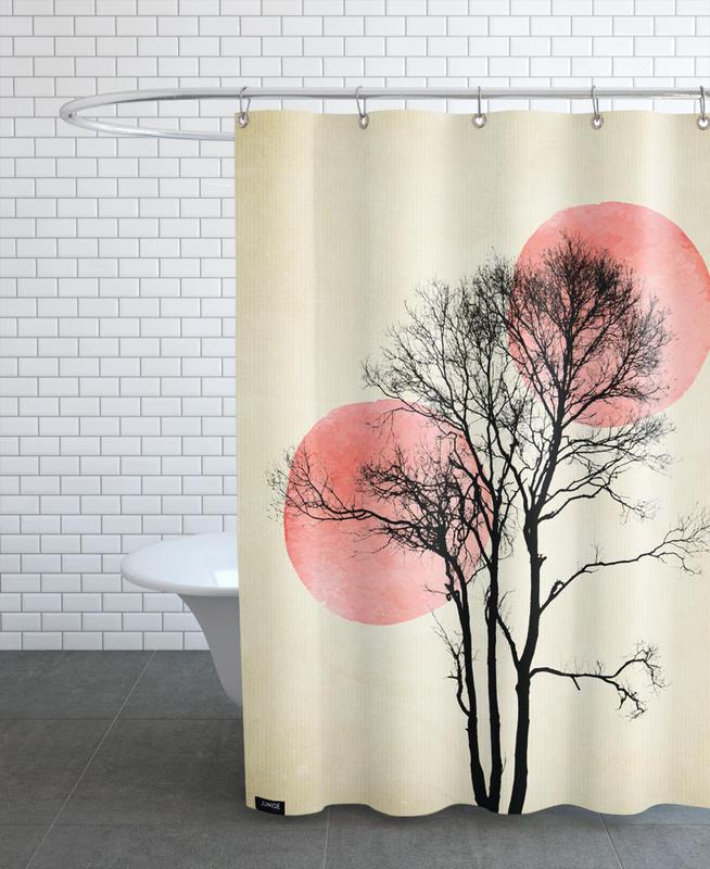 Moon And Sun Hiding Shower Curtain