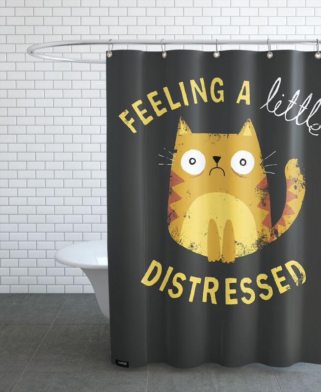 A Little Distressed Shower Curtain