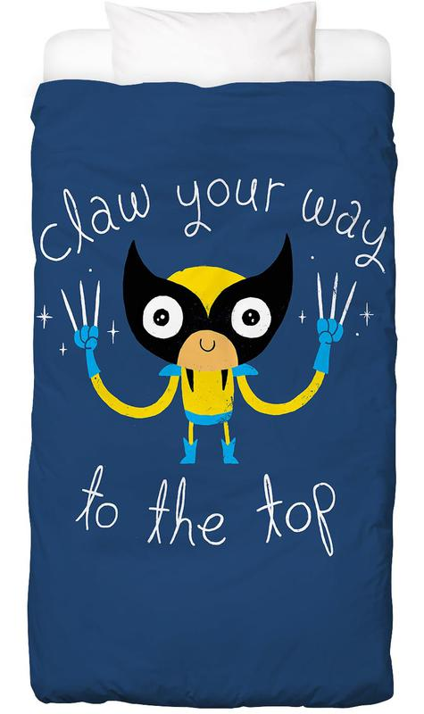 Motivational, Nursery & Art for Kids, Claw Your Way to the Top Bed Linen