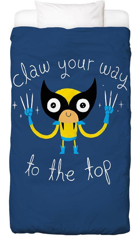 Motivatie, Kunst voor kinderen, Claw Your Way to the Top Dekbedovertrekset
