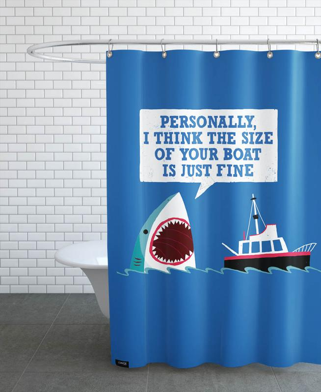 Polite Jaws Shower Curtain