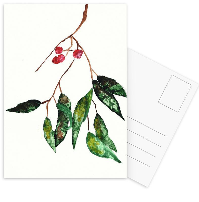 Autumn Berry 2 Postcard Set