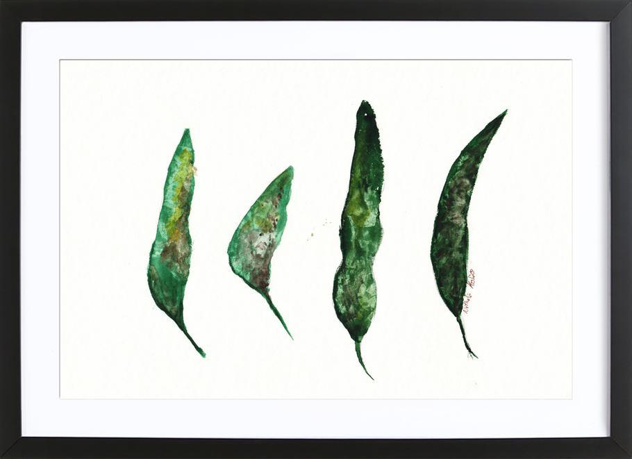 All My Leaves -Bild mit Holzrahmen