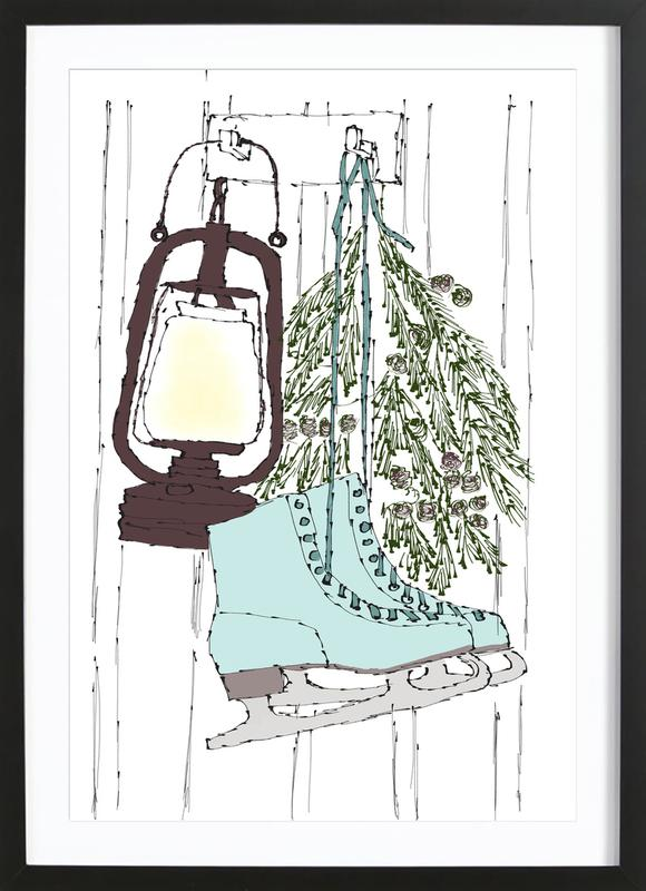 Happy Winter Time Framed Print