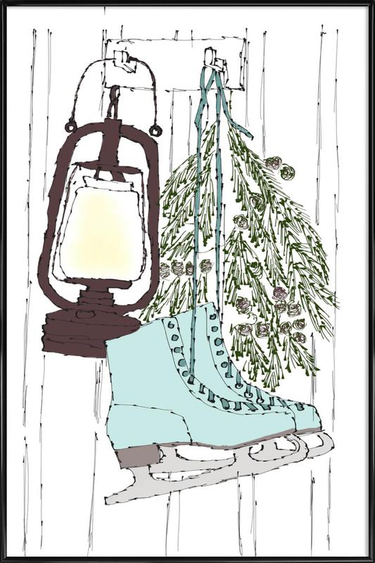 Happy Winter Time Framed Poster