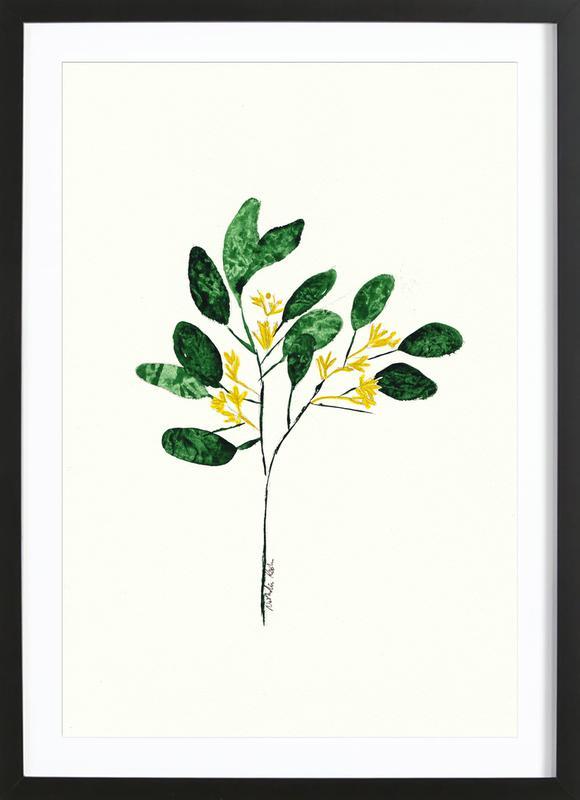 Wild Plant -Bild mit Holzrahmen