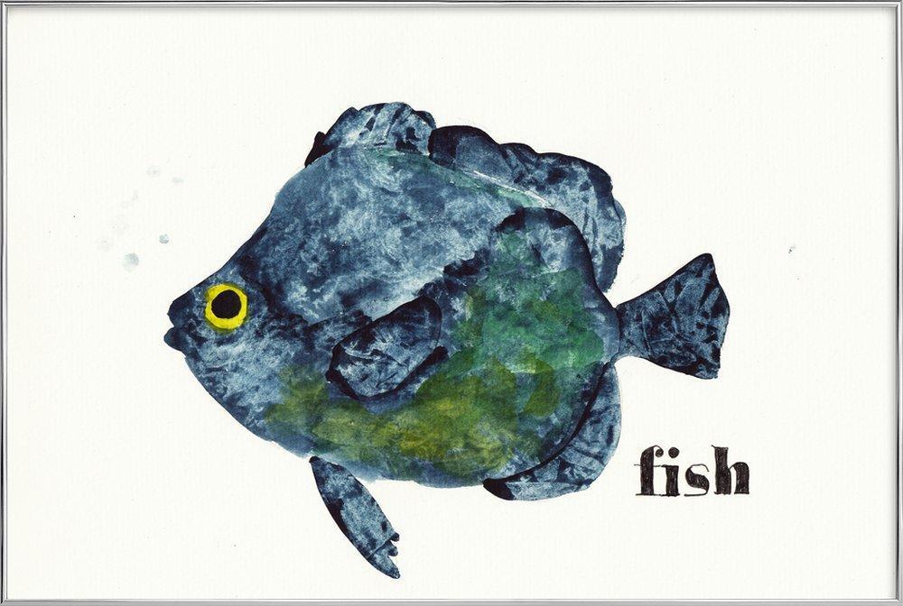 Fish Poster in Aluminium Frame