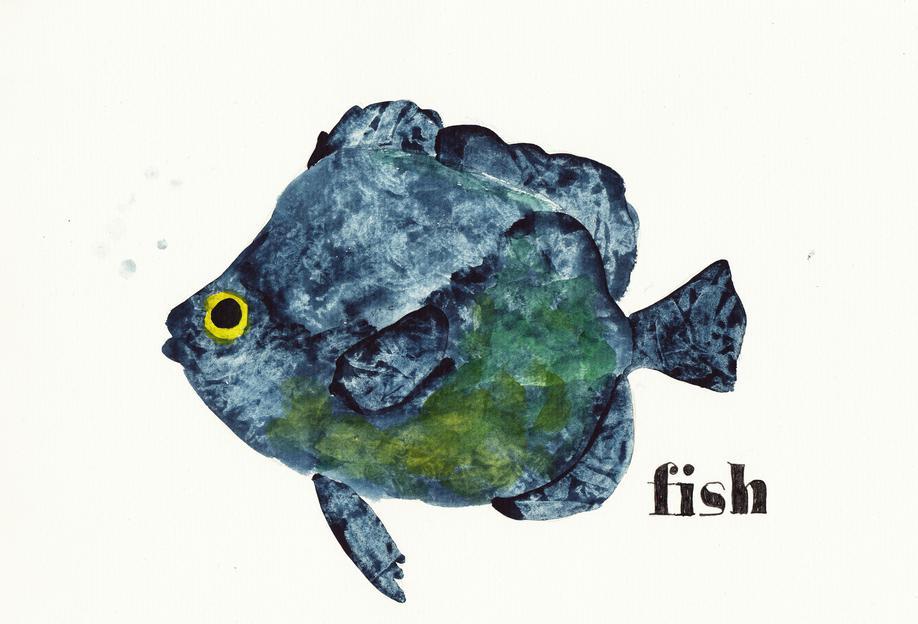 Fish tableau en verre