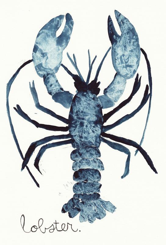 Lobster Impression sur alu-Dibond