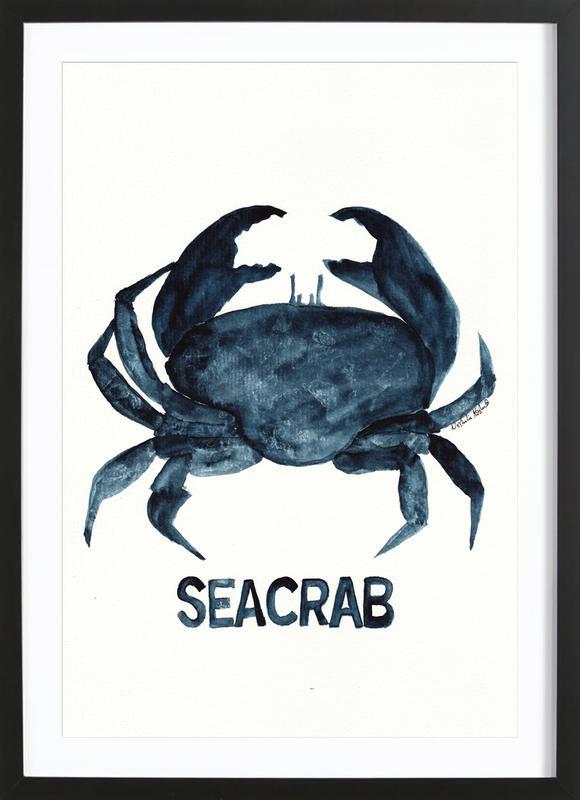 Seacrab -Bild mit Holzrahmen
