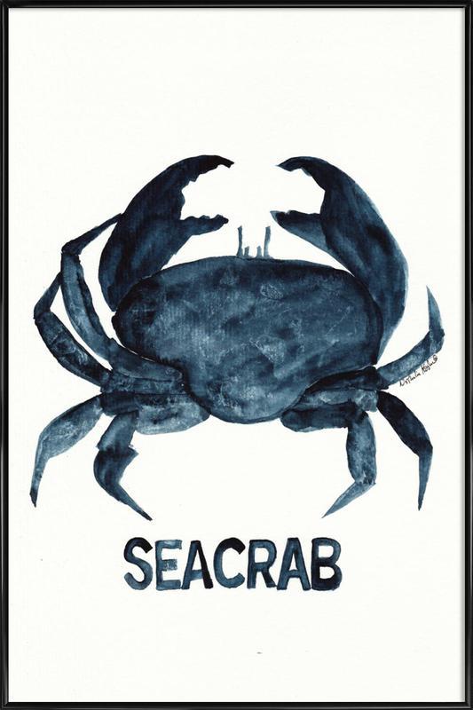 Seacrab affiche encadrée