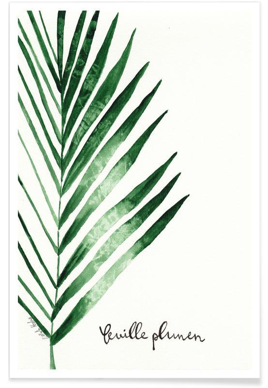 Feuille Palmen -Poster