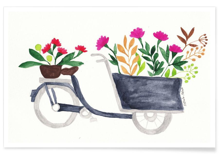 Vélos, Flowers Delivery affiche