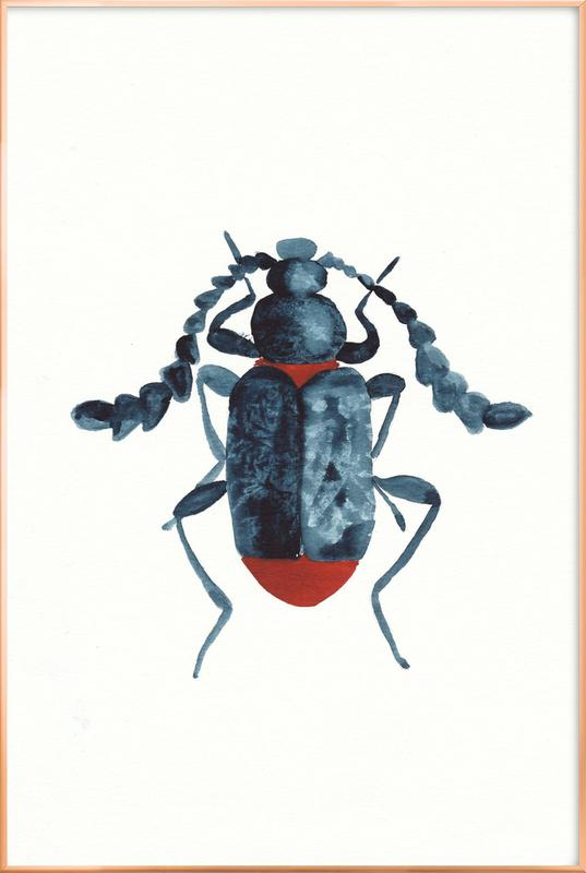 Blue Beetle -Poster im Alurahmen