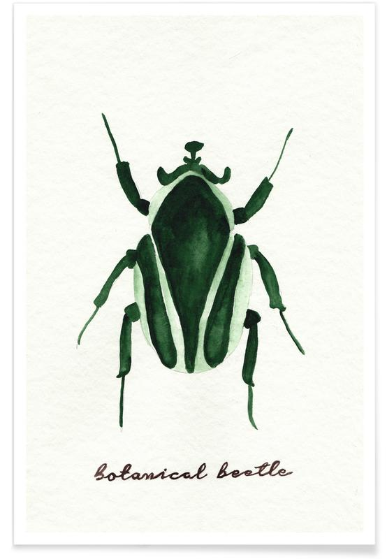 Beetles, Botanical Beetle Poster