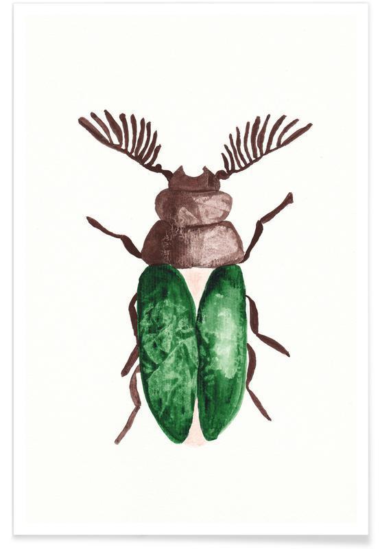 Biller, Greeny Beetle Plakat
