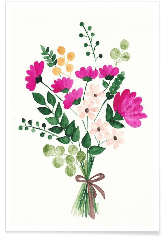 Muttertag, Geburtstage, Bouquet -Poster