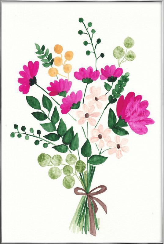 Bouquet poster in aluminium lijst