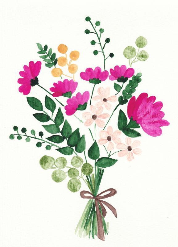 Bouquet -Leinwandbild