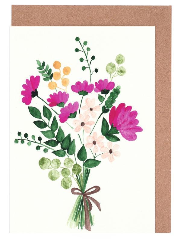 Bouquet -Grußkarten-Set