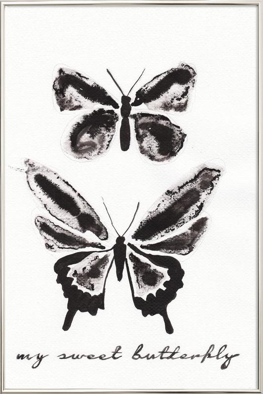 My sweet butterfly Poster in Aluminium Frame