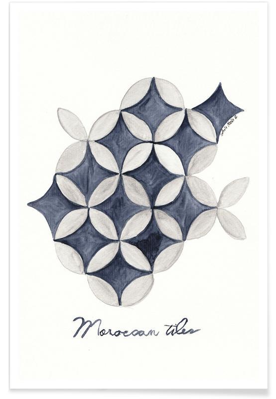 Morocco Tiles -Poster