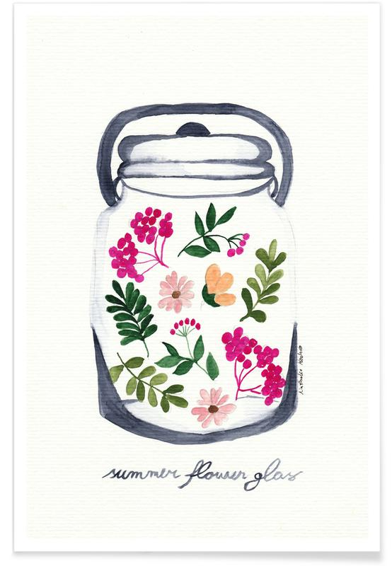 Summer Flower Glass -Poster
