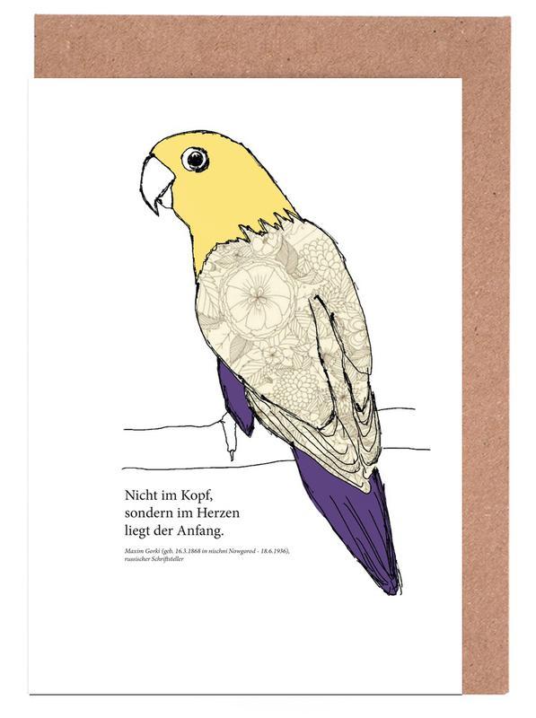 Parrots, Balu Greeting Card Set