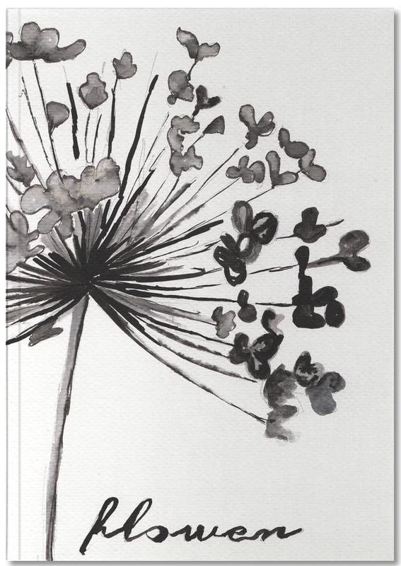 Noir & blanc, Flower Notebook
