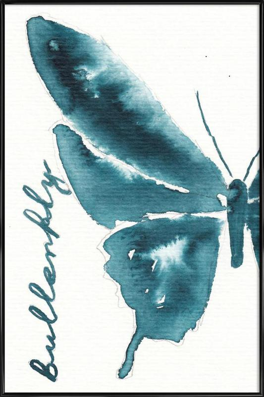 Butterfly ingelijste poster