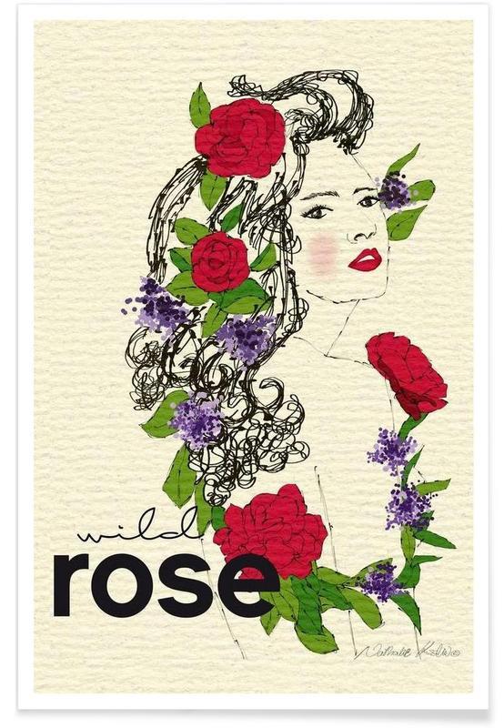 Roses, Wild Rose affiche