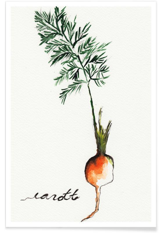 Gulerødder, Carott Plakat