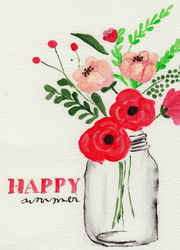 Happy Summer Canvas Print