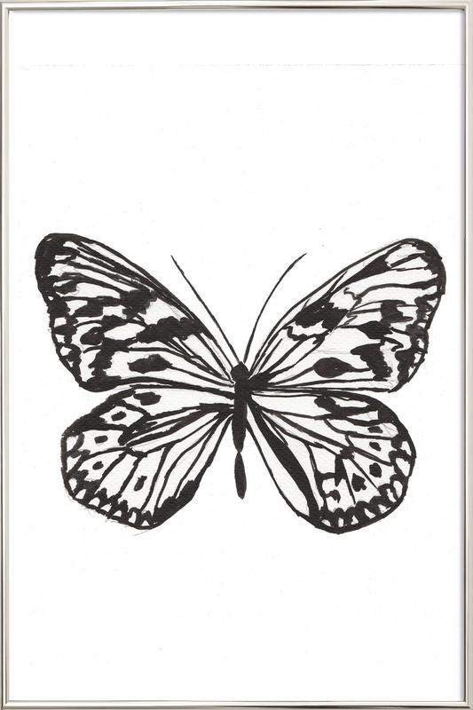Butterfly No. 45 poster in aluminium lijst