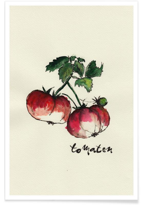 Tomates, Tomaten affiche