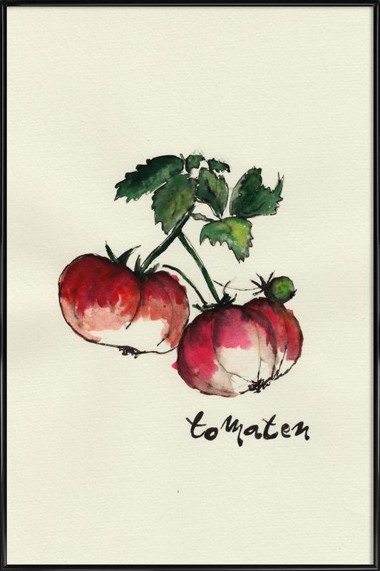 Tomaten affiche encadrée