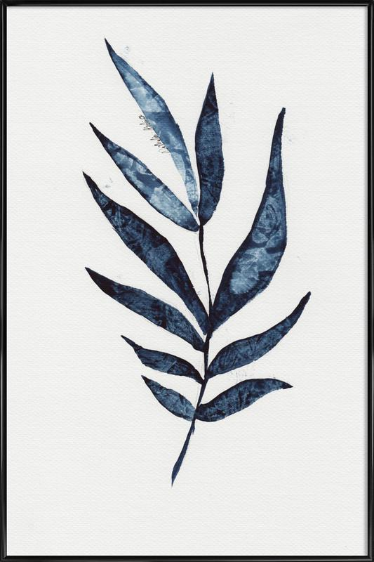 Palm Leaf -Bild mit Kunststoffrahmen