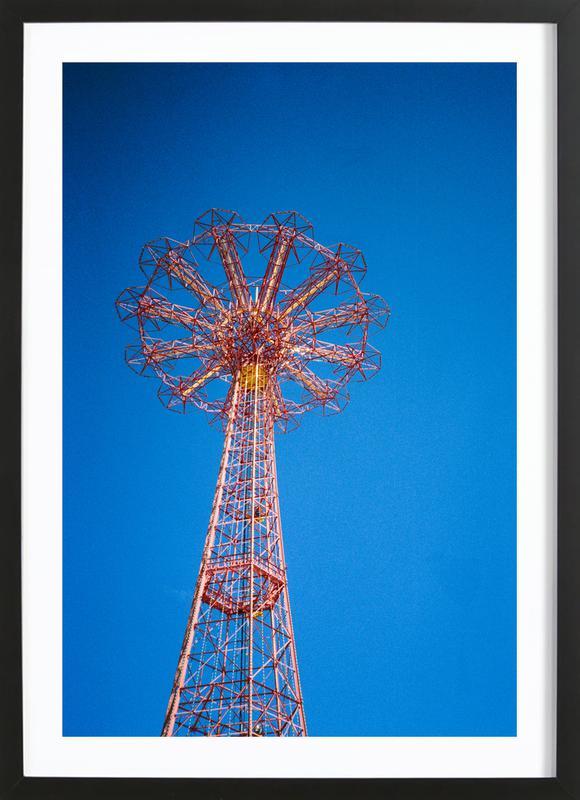 Coney Island 1 -Bild mit Holzrahmen