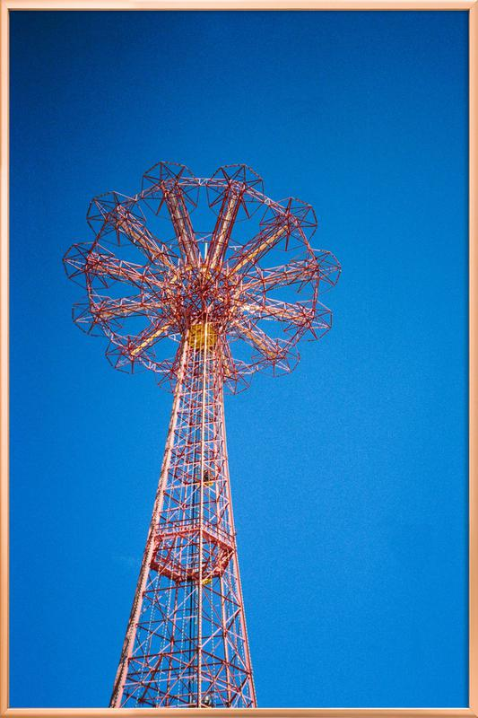 Coney Island 1 Poster in Aluminium Frame