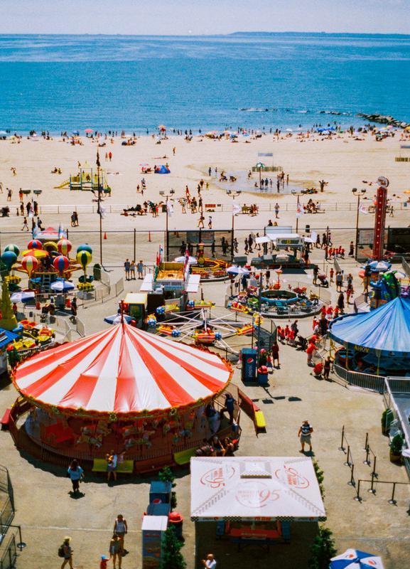 Coney Island 3 -Leinwandbild