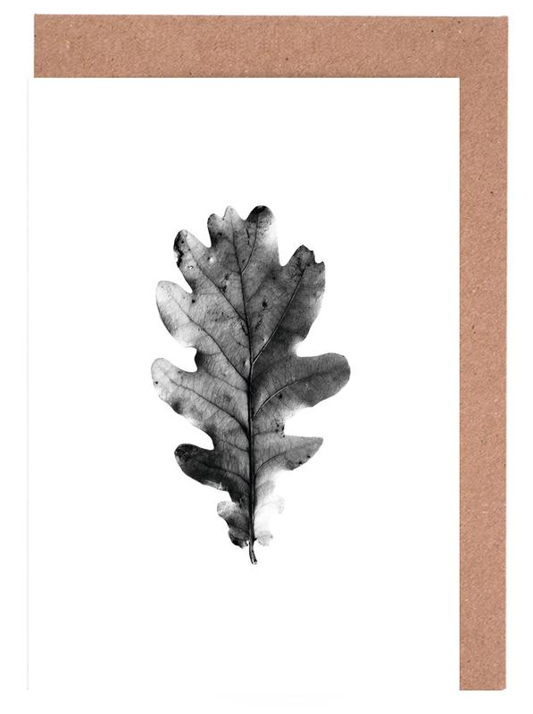 Schwarz & Weiß, Leaf 1 -Grußkarten-Set