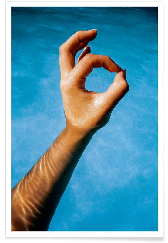 Körperformen, Glückwünsche, Hand -Poster